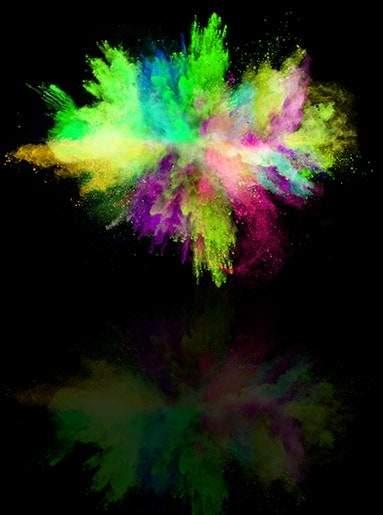 Χρωματιστή πούδρα